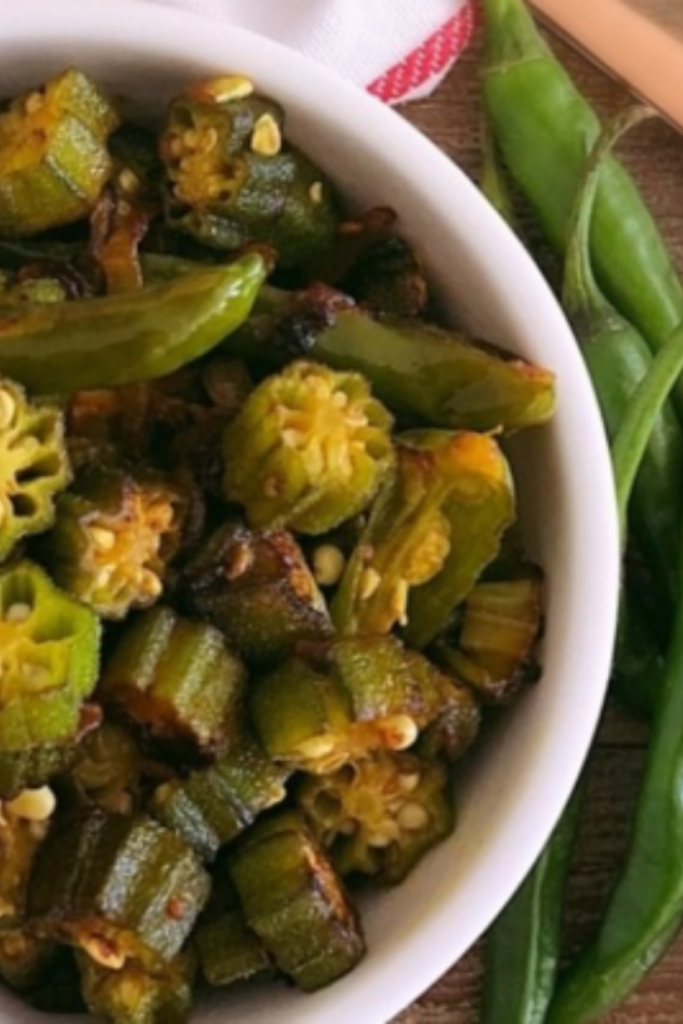 Easy Sauteed Okra with Chilli and Garlic