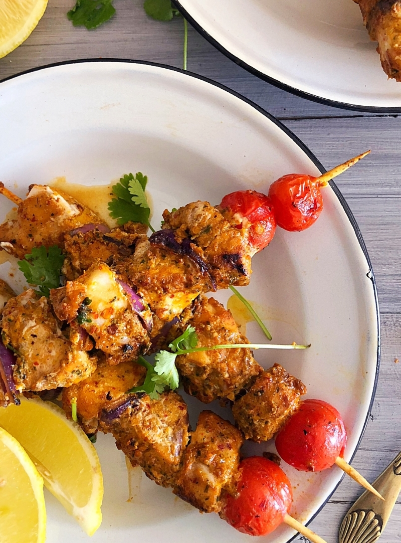 Moroccan Fish Skewers with Saffron