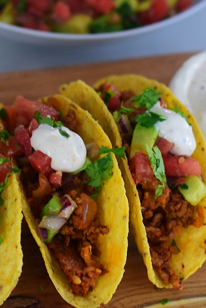 Quick, easy lamb mince tacos with loads of flavour