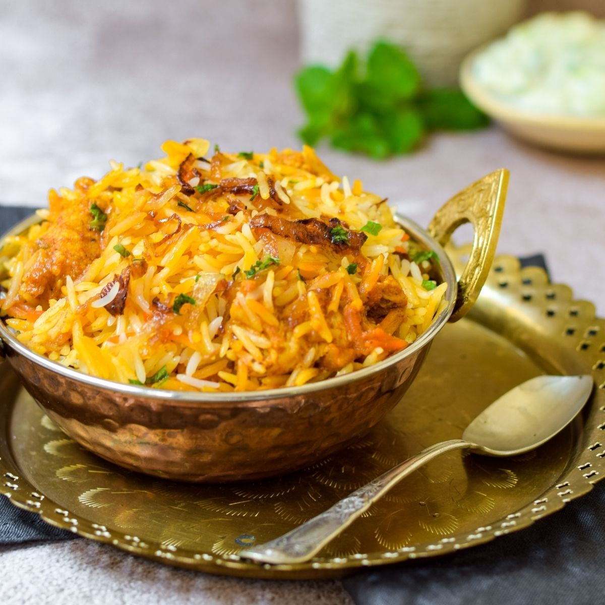 Spicy Butter Chicken Biryani
