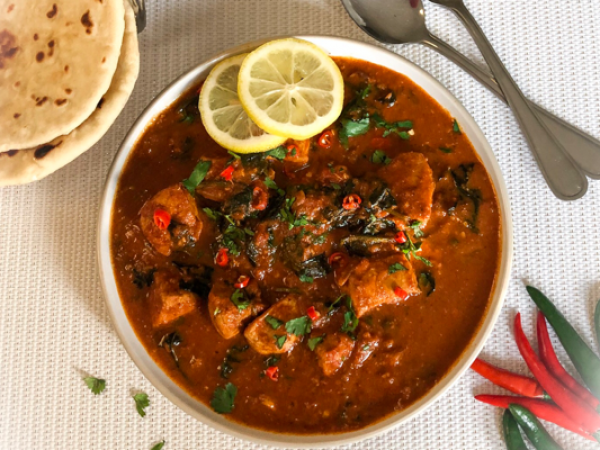 Chicken Karahi with Spinach