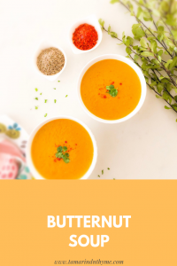 Simple Turmeric Butternut Soup