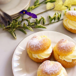 Easy Choux pastry filled with caramel and whipped cream
