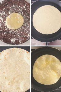 Rotis made the South African way with butter