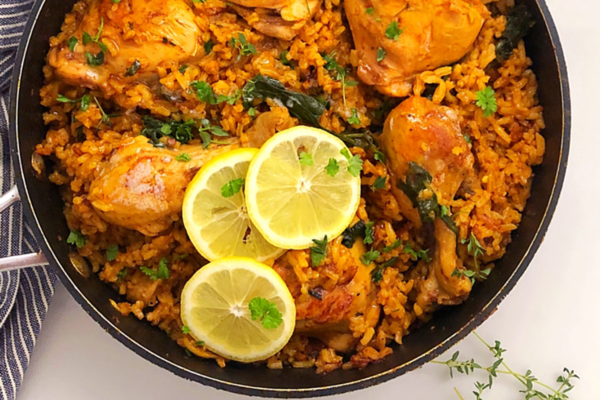 One-Pot Spicy Rice and Chicken