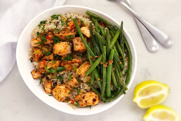 Brown Rice with Salmon