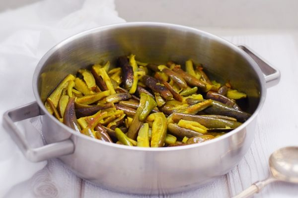 Brinjal with Garlic and Chilli