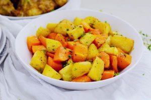 Roast Butternut and Sweet Potato