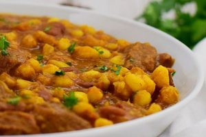 Curried Samp and Beans with Lamb