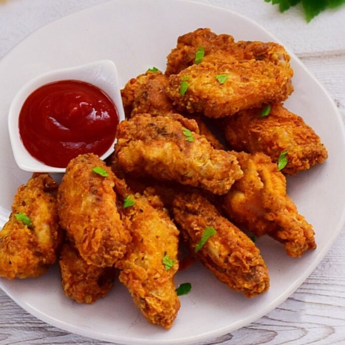 Light and Crispy Crumbed Chicken Wings