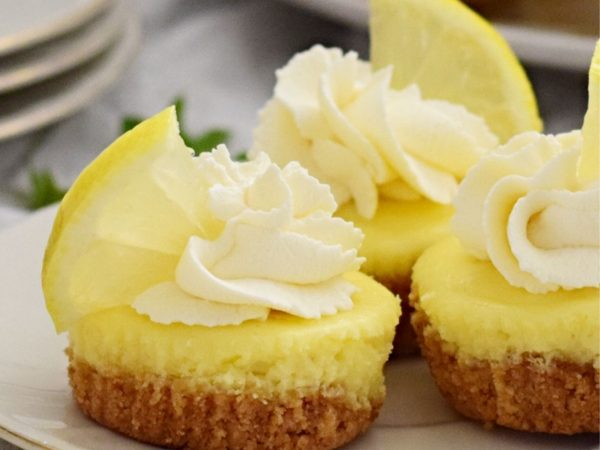 Delicious Mini Baked Lemon Cheesecake