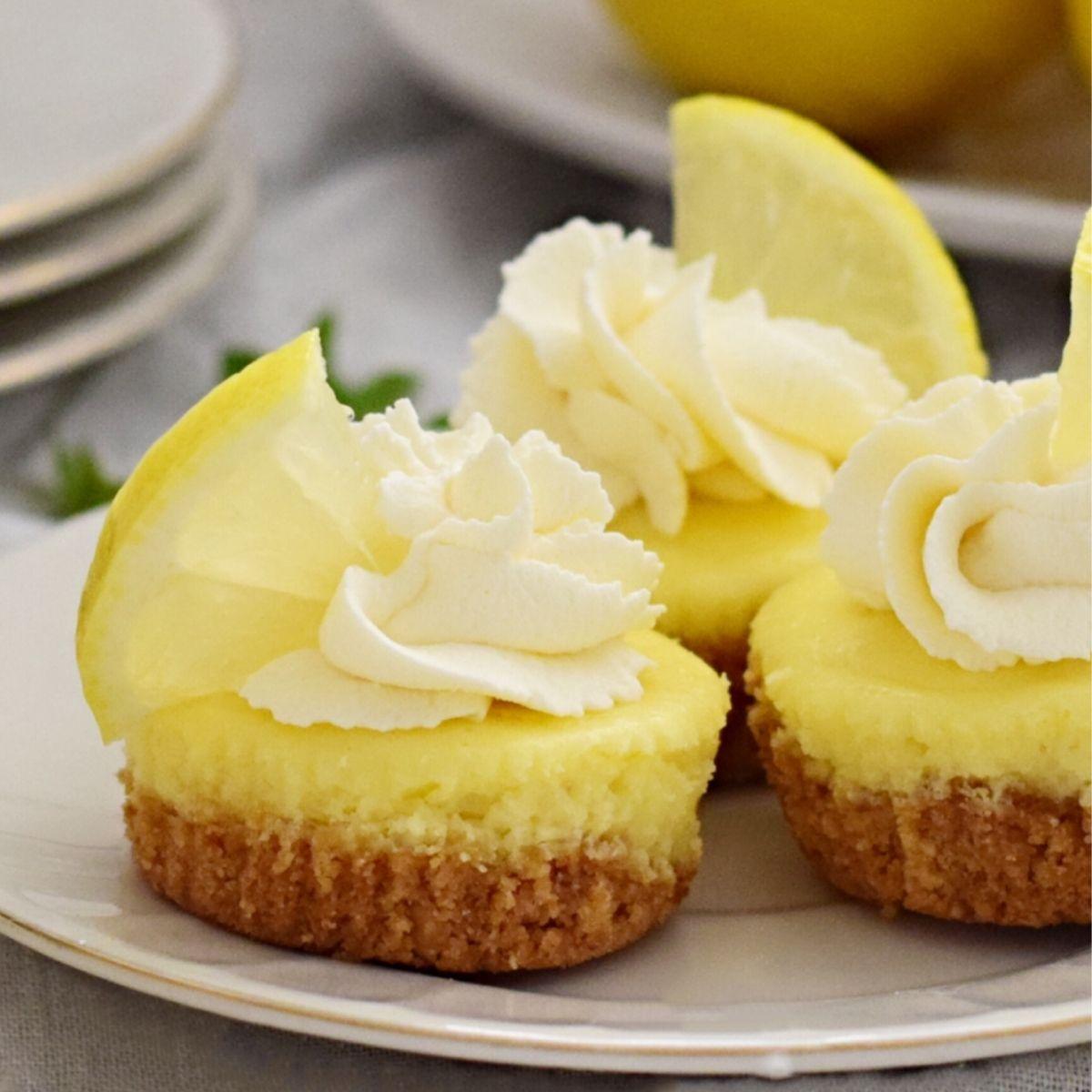 Delicious Mini Baked Lemon Cheesecake