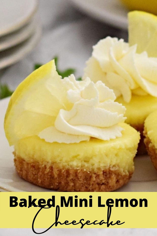 Baked Mini Lemon Cheesecake