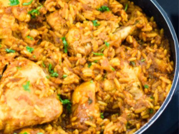 Easy Chicken Akni