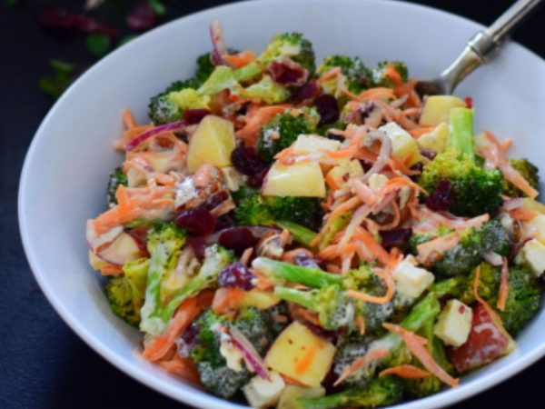 Roasted Broccoli, Feta and Cranberry Salad