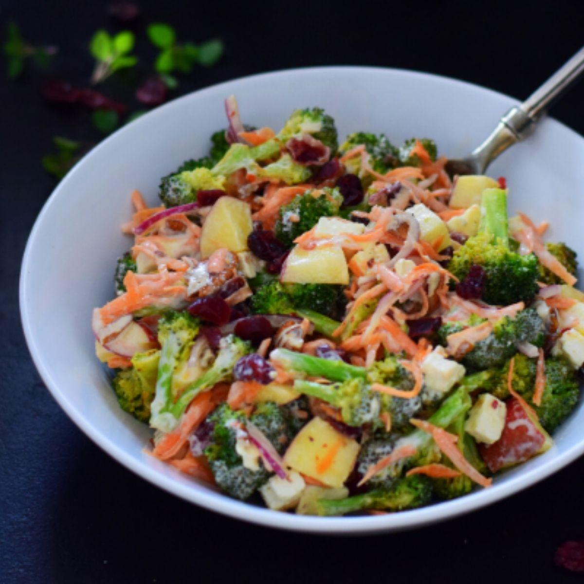 Roasted Broccoli, Feta and Cranberry Salad