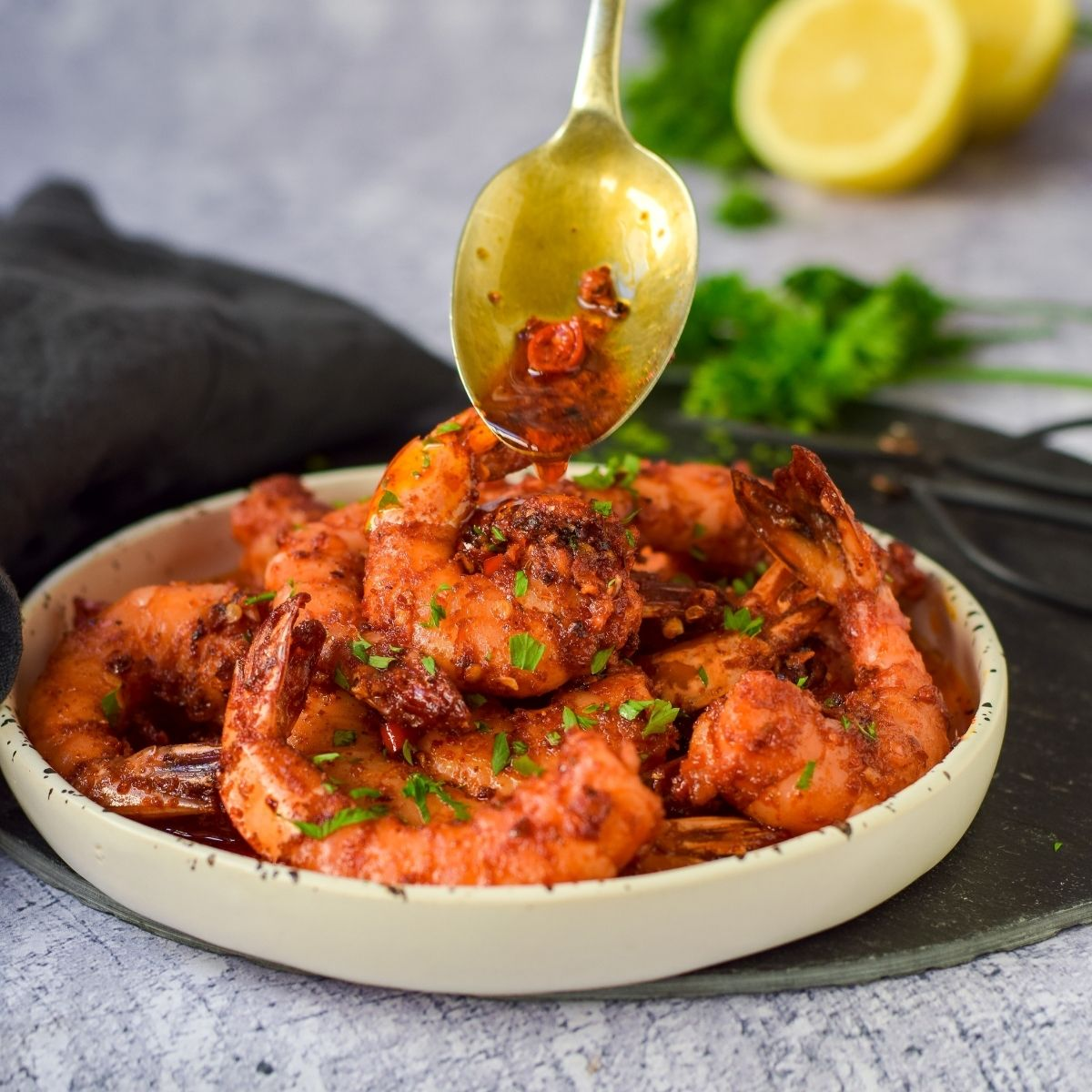 Chilli Garlic Butter Prawns