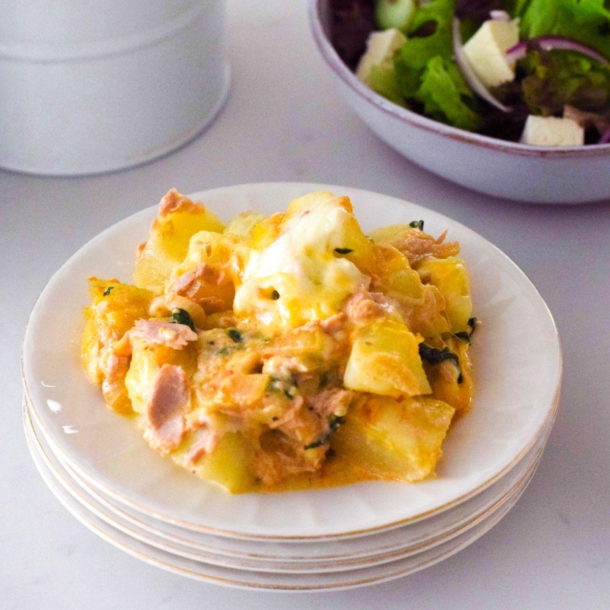Tuna Potato Spinach Bake