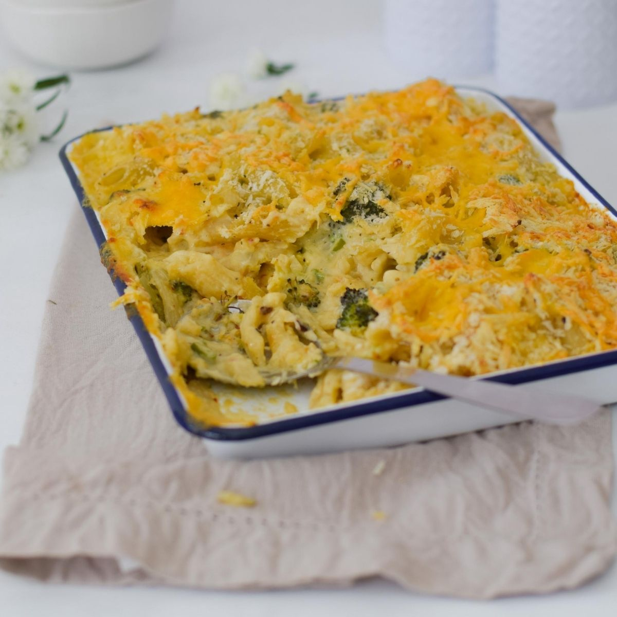 Roasted Brocolli Pasta Bake