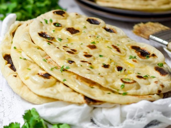 Buttery Garlic Naan Bread