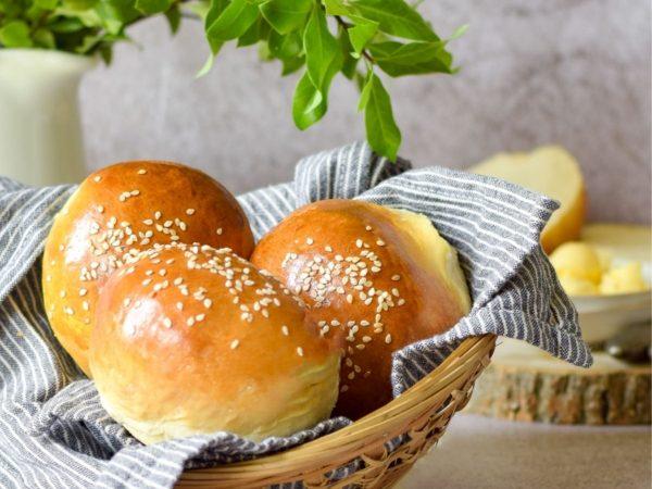 Soft Brioche Hamburger Buns