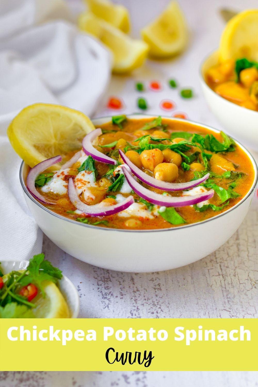 Chickpea Potato Spinach Curry
