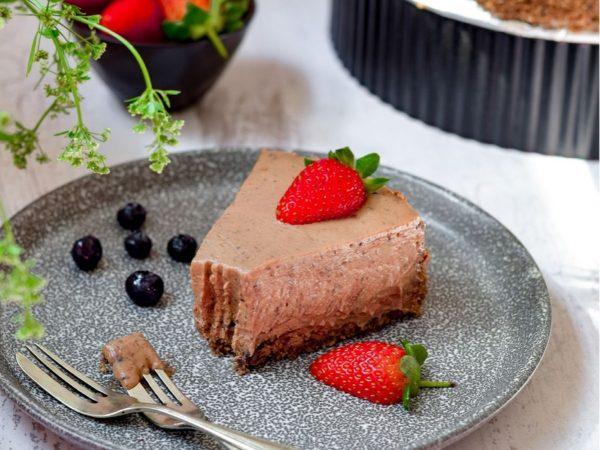 Decadent No Bake Chocolate Cheesecake