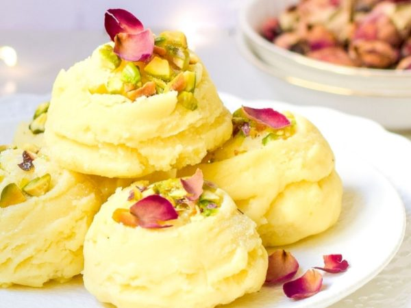 Easy 5-Minute Rose Pistachio Burfee