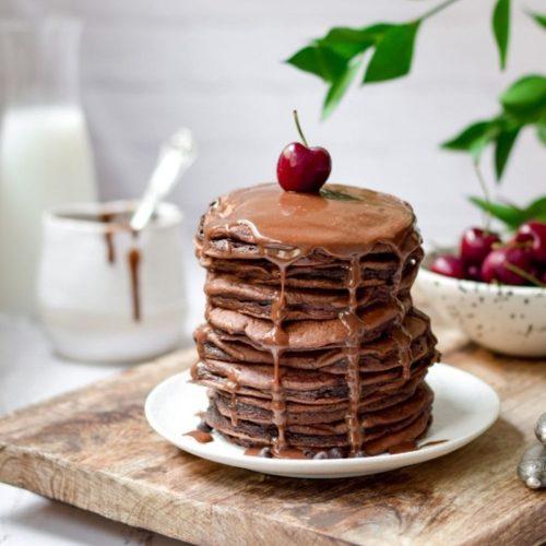 Fluffy Chocolate Pancakes