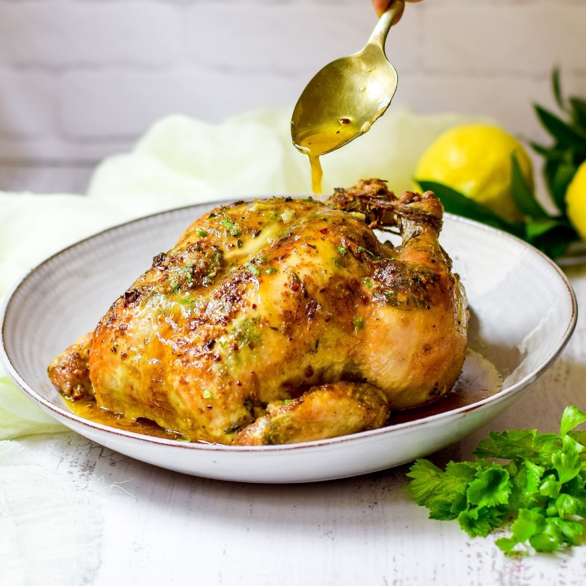 Perfect Garlic Herb Roast Chicken