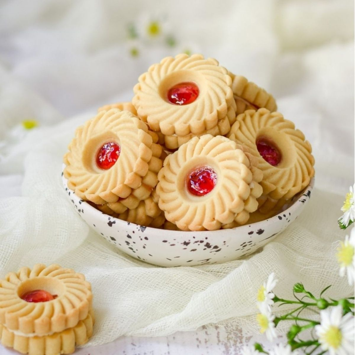 Homemade Strawberry Whirls Biscuits