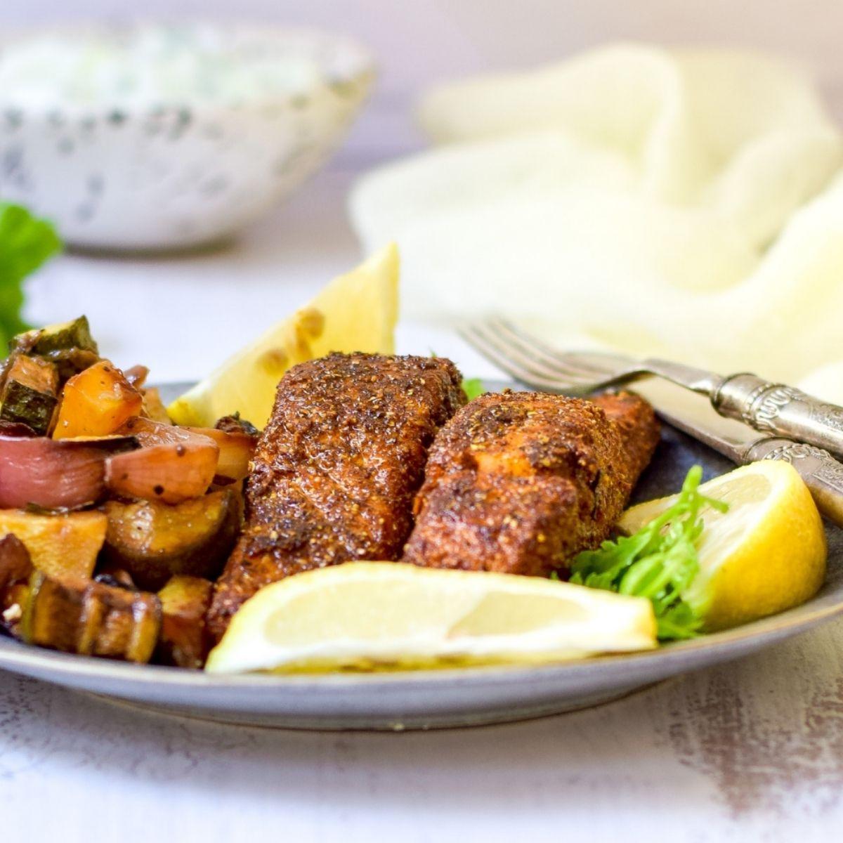 Moroccan Salmon with Raita