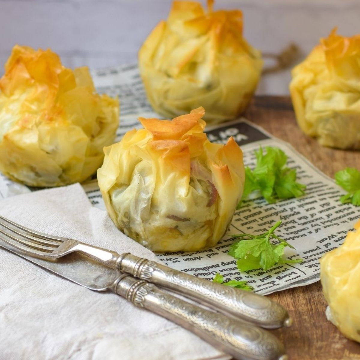Delicious Roasted Veggie Phyllo Parcels