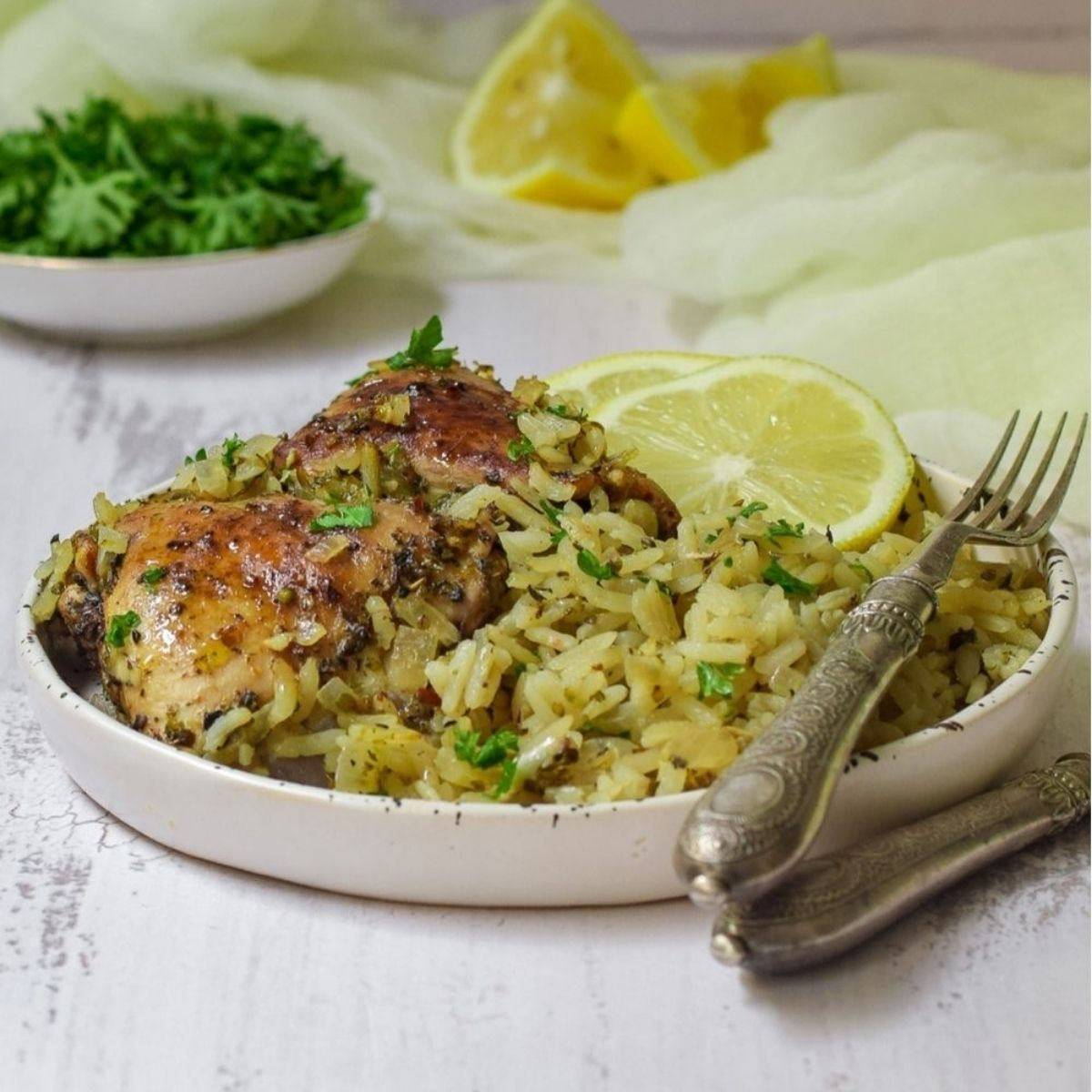 One Pot Lemon Chicken and Rice