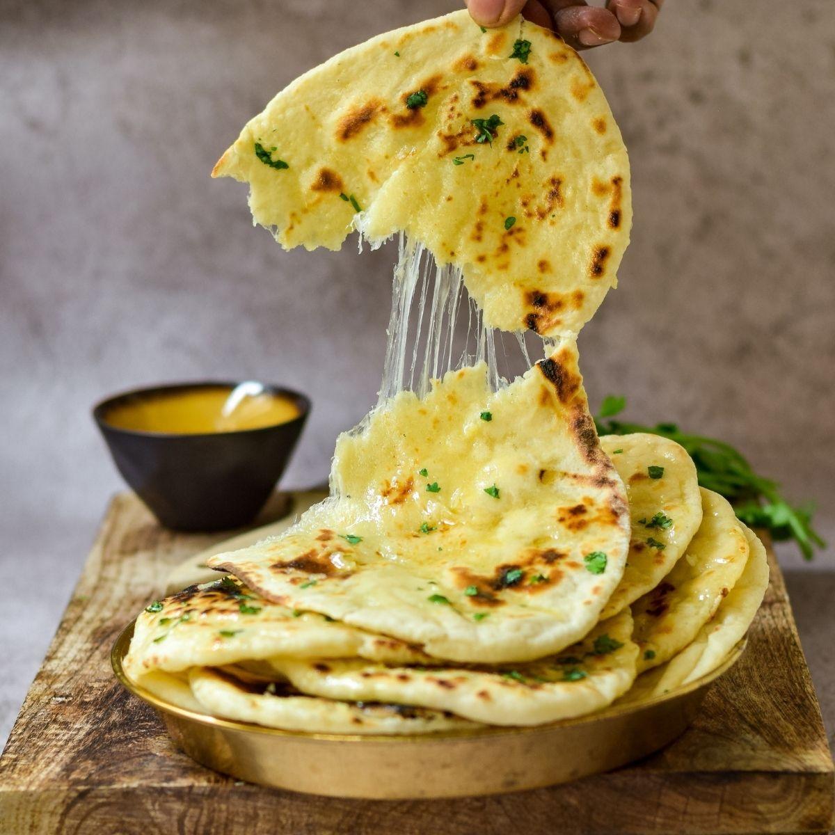 Cheesy Garlic Naan Bread