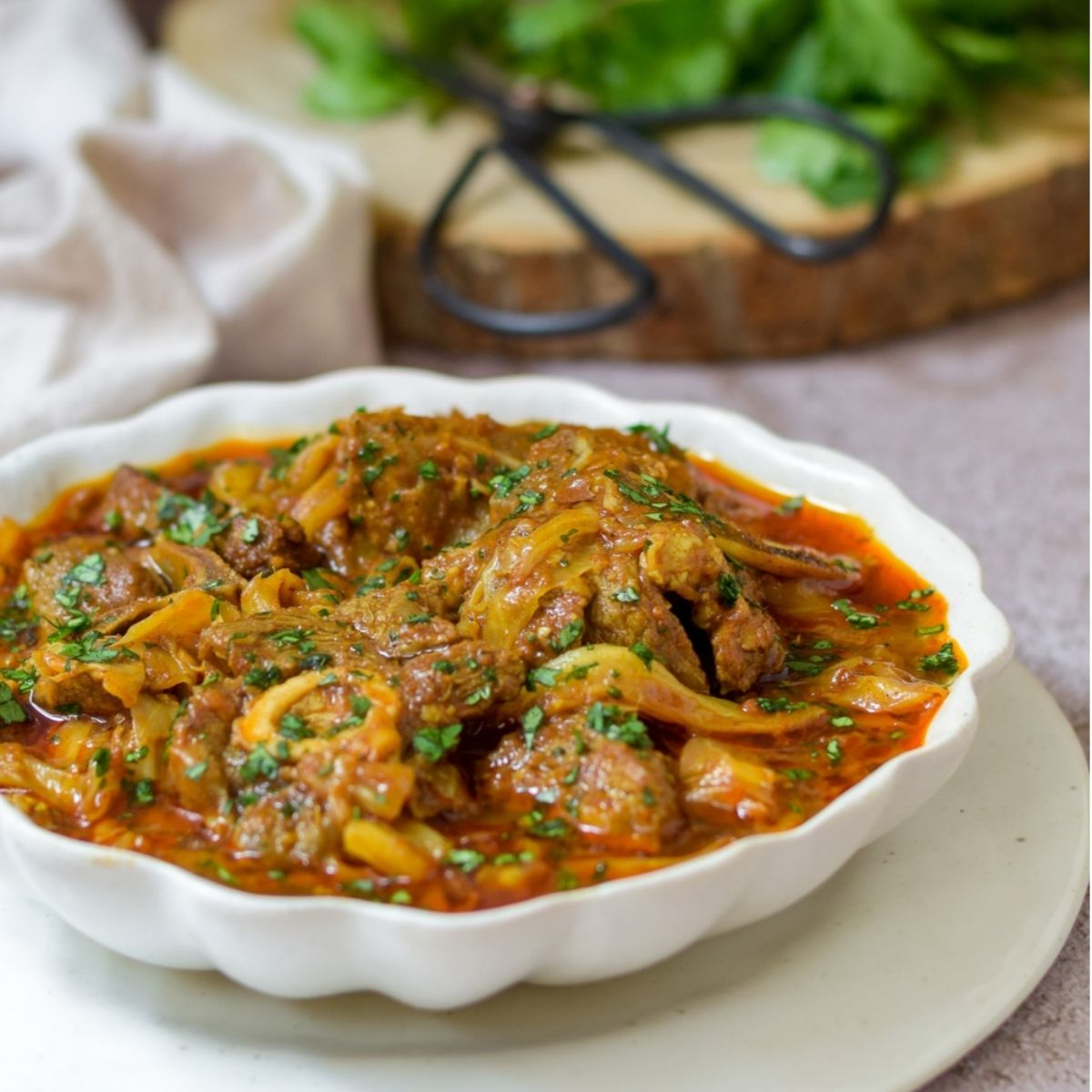 Lamb and Cabbage Curry