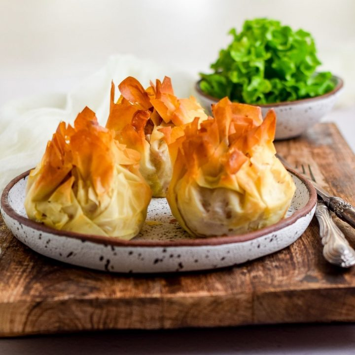 Butter Chicken Phyllo Parcels